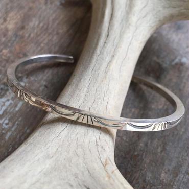 【Navajo】Narrow stamp bracelet