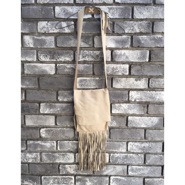 期間限定【E.V.T】Sonoma Deerskin Bag bottom fringe