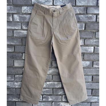 【RICCARDO METHA】One Tuck Wide Trousers  Twill Dragon