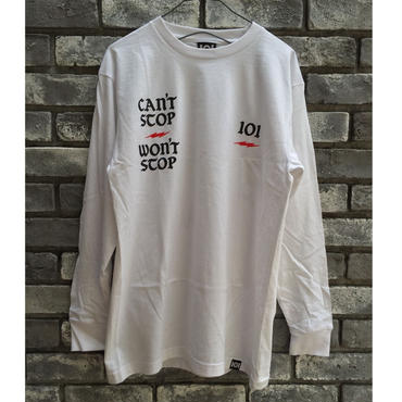 【101】CAN'T STOP WONT STOP long sleeve Tee