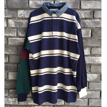 【COLUMBIA KNIT】1000pj practic rugby shirt  Lサイズ
