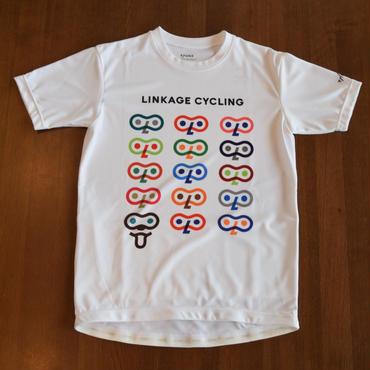 バックポケット付サイクリングTシャツ LCT4 white