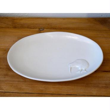 【野村亜土さん】オーバル皿 (キウイ・オオハシ)