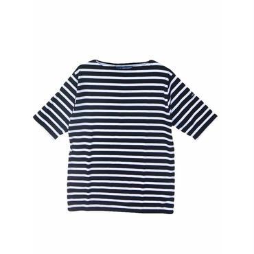 SAINT JAMES(セントジェームス)PIRIAC BORDER(ボーダー)NOIR/NEIGE 半袖Tシャツ【正規取扱品】UNISEX