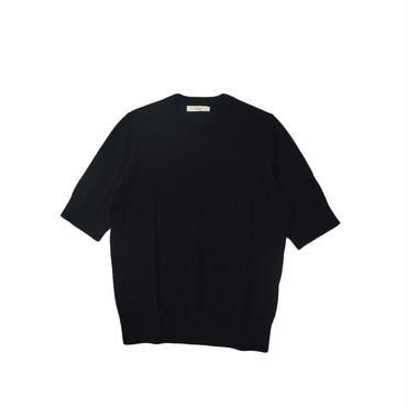 crespi(クレスピ) クルーネック半袖ニット 104-4708