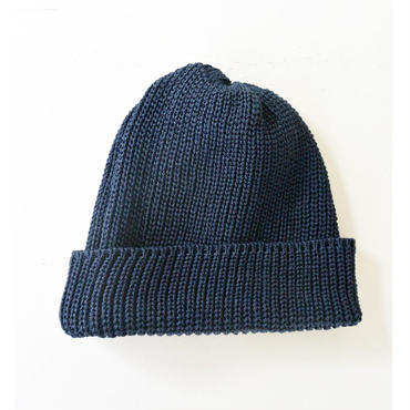 Weac.(ウィーク) PAPER SUMMER KNIT CAP  NAVY