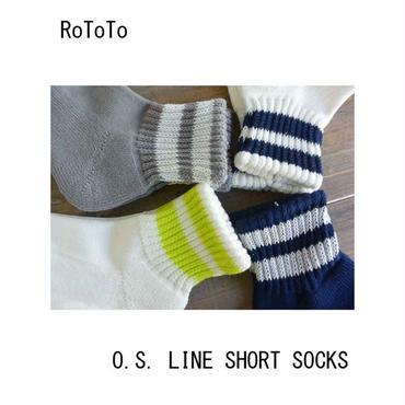 ROTOTO(ロトト) O.S. LINE SHORT SOCKS