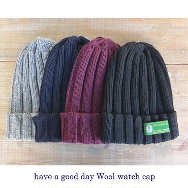 have a good day ハブアグッドディ Wool Watch Cap