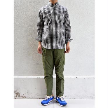 nisica(ニシカ)ボタンダウンシャツ ギンガムチェックBK