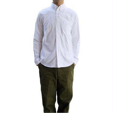 nisica(ニシカ)ボタンダウンシャツ WHITE