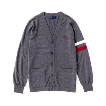 FRED PERRY(フレッドペリー)V Neck Tipped Cardigan【MIX CHARCOAL】