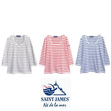 SAINT JAMES(セントジェームス) ROUNDNECK レディースT0 7分袖カットソー