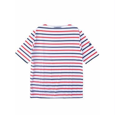 SAINT JAMES(セントジェームス)PIRIAC BORDER(ボーダー)T1 トリコロール 半袖Tシャツ【正規取扱品】UNISEX