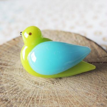Coco bird・ことりボタン (col.バンブー+ターコイズ)