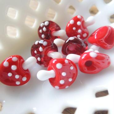 Fungi・きのこボタン (col.ルビー、スカーレット)