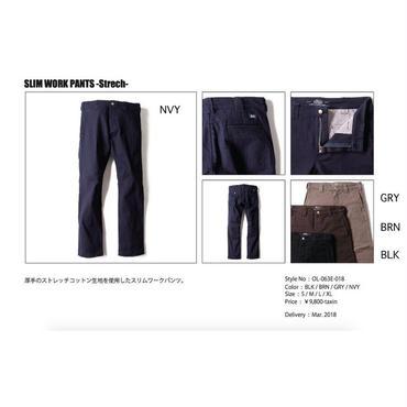 【お取り寄せ5%OFF】2018春夏新作BLUCO(ブルコ) SLIM WORK PANTS -Strech-スリムワーキパンツ ストレッチ