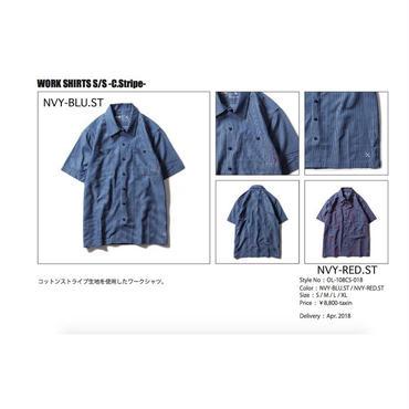【お取り寄せ5%OFF】2018春夏新作BLUCO(ブルコ) WORK SHIRTS S/S -C.Stripe-半袖ワークシャツ