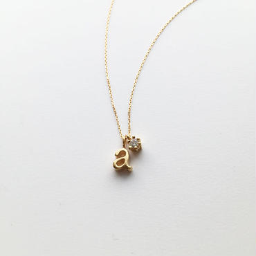 チャームイニシャルネックレス【a】 【納期約2~3週間】