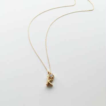チャームイニシャルネックレス【k】【納期約2~3週間】