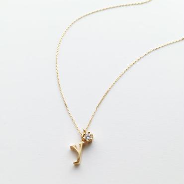 チャームイニシャルネックレス【y】【納期約2~3週間】
