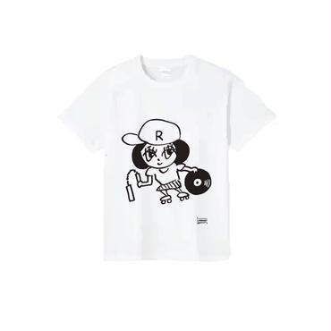 らりーちゃんT-SHIRTS/ホワイト/ブラック