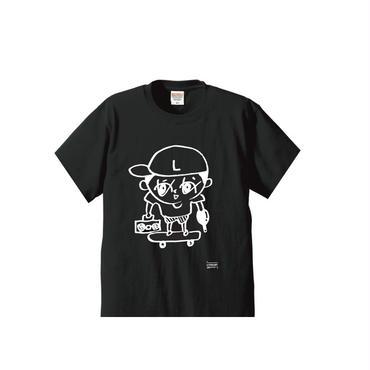 らいぶーくんT-SHIRTS/ホワイトアッシュ/ブラック/ダークグレー