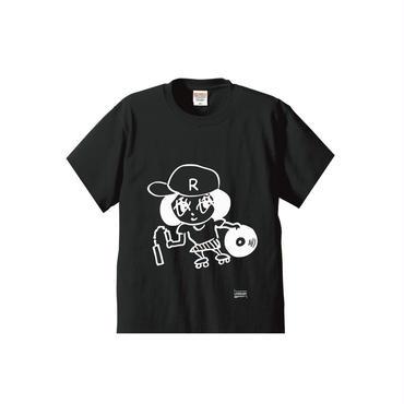 らりーちゃんT-SHIRTS/ホワイトアッシュ/ブラック/ダークグレー