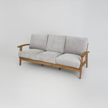 Corduroy Sofa 3P【N.Brown】