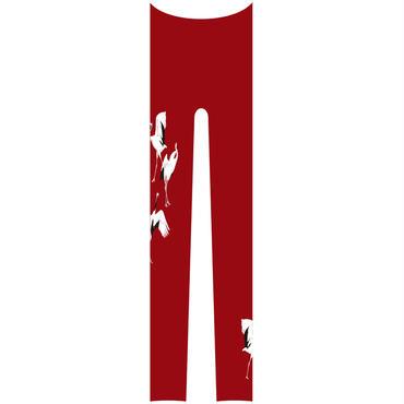 鶴 レギンス ワンポイント 紅葉色