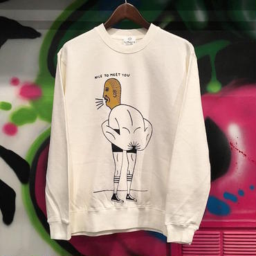 "【 LIFERS 】L-042 ""KETSU BOY"" PIGMENT SWEAT ( VINTAGE OFF WHITE )"