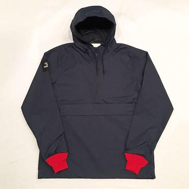 "【 tr.4 suspension 】""LONG SET"" HOODED WINDBREAKER ( NAVY × RED )"