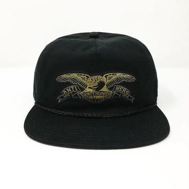 "【 ANTI HERO 】""STOCK EAGLE PATCH"" SNAPBACK CAP ( BLACK )"