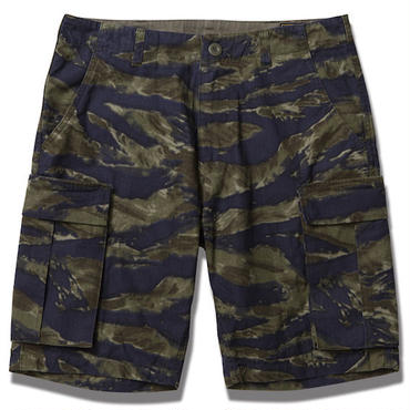 FUCT/SSDD 6101 TIGER CAMO SHORTS (OLIVE)