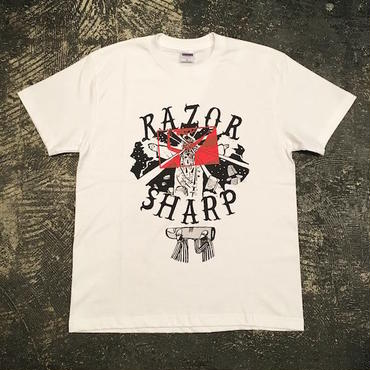 """RAZOR SHARP FGNT-03 """"RAZOR SHARP"""" T-SHIRT (WHITE)"""