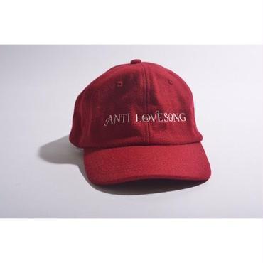 "【 tr.4 suspension × GAVIAL 】""ANTI LOVESONG"" WOOL CAP ( RED )"