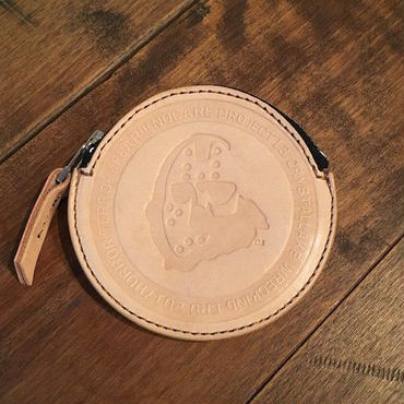 【 NO CARE 】NC LOGO LEATHER COIN CASE (NATURAL)