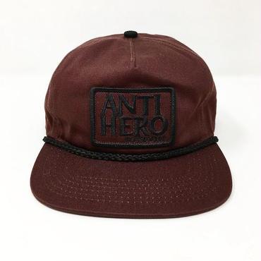 "【 ANTI HERO 】""RESERVE PATCH"" SNAPBACK CAP ( BROWN )"