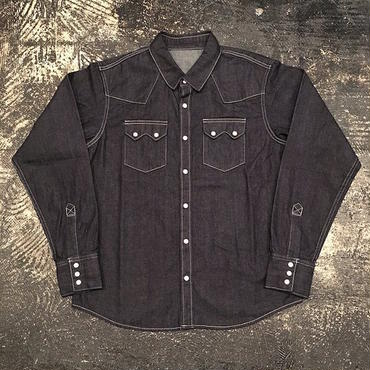"【 toast FOOT & EYE GEAR 】""THREE FACE for toast"" DENIM SHIRT (INDIGO)"