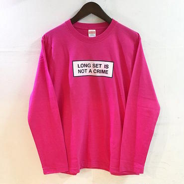 "【 LONG SET ORIGINAL 】LSD-021 ""NOT A CRIME"" LONG SLEEVE T-SHIRT (PINK)"