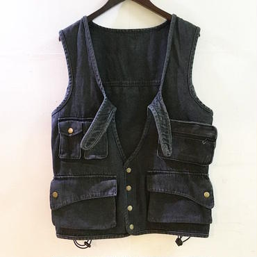 mash mashRe-41 Back Pack Vest (BLACK DENIM)