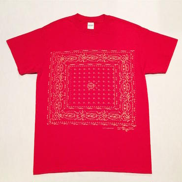 "【 tr.4 suspension 】tr.4 "" BANDANA "" DISCHARGE PRINT S/S TEE ( RED )"