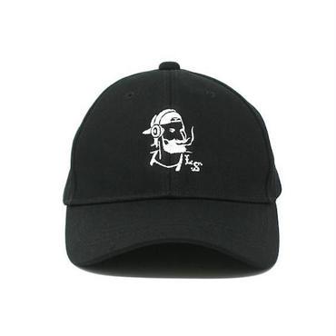 "【 LONG SET ORIGINAL 】LSD-015 ""DJ ZIG-ZAG MAN"" 6 PANEL SNAPBACK CAP (BLACK/WHITE)"