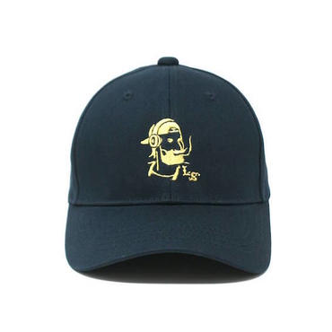 "【 LONG SET ORIGINAL 】LSD-015 ""DJ ZIG-ZAG MAN"" 6 PANEL SNAPBACK CAP (NAVY/MUSTARD)"