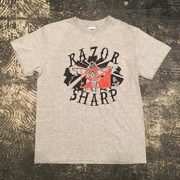 """RAZOR SHARP FGNT-03 """"RAZOR SHARP"""" T-SHIRT (GRAY)"""
