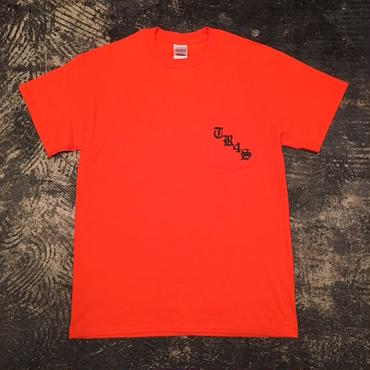 "【 tr.4 suspension 】""TR4S SKATE"" POCKET S/S TEE ( ORANGE )"