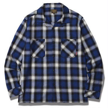 FUCT/SSDD 6307 OMBRE CHECK SHIRT (BLUE)