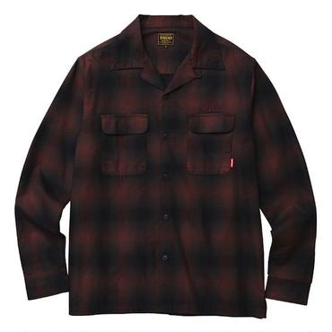 FUCT/SSDD 4304 OMBRE CHECK L/S SHIRT (RED)