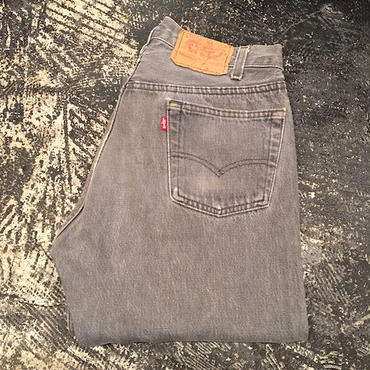 【OLD】 Levi's 501 BLACK DENIM PANTS (W31×L32)