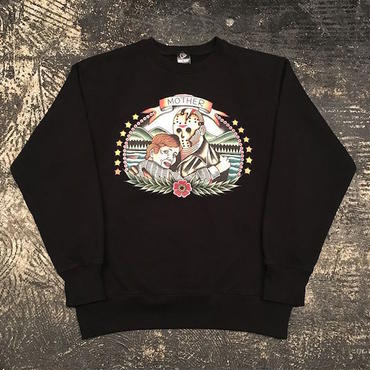"【 NO CARE 】""KILL MOM"" CREWNECK SWEAT (BLACK) Designed by SCUMBOY"