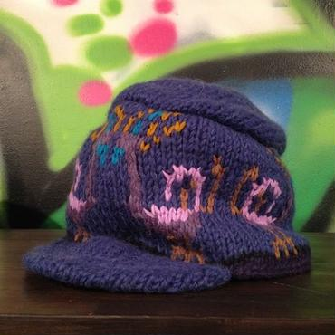 "mash Re-19 ""Peacock"" Knit Cap (NAVY)"